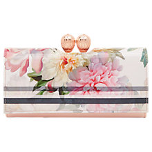 Buy Ted Baker Mandie Painted Posie Leather Matinee Purse, Baby Pink Online at johnlewis.com