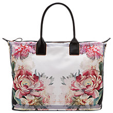 Buy Ted Baker Nessie Painted Posie Large Tote Bag, Baby Pink Online at johnlewis.com