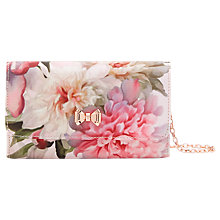 Buy Ted Baker	Misoso Painted Posie Clutch Bag, Baby Pink Online at johnlewis.com