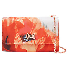 Buy Ted Baker Poma Playful Poppy Clutch Bag, Mid Red Online at johnlewis.com
