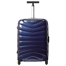 Buy Samsonite Firelite 4-Wheel 55cm Cabin Spinner Suitcase, Navy Blue Online at johnlewis.com