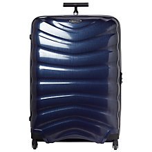 Buy Samsonite Firelite 4-Wheel 81cm Spinner Suitcase, Navy Blue Online at johnlewis.com