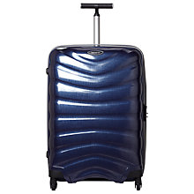 Buy Samsonite Firelite 4-Wheel 69cm Spinner Suitcase, Navy Blue Online at johnlewis.com