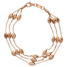 Buy Links of London Essential Beaded Bracelet, Rose Gold Online at johnlewis.com