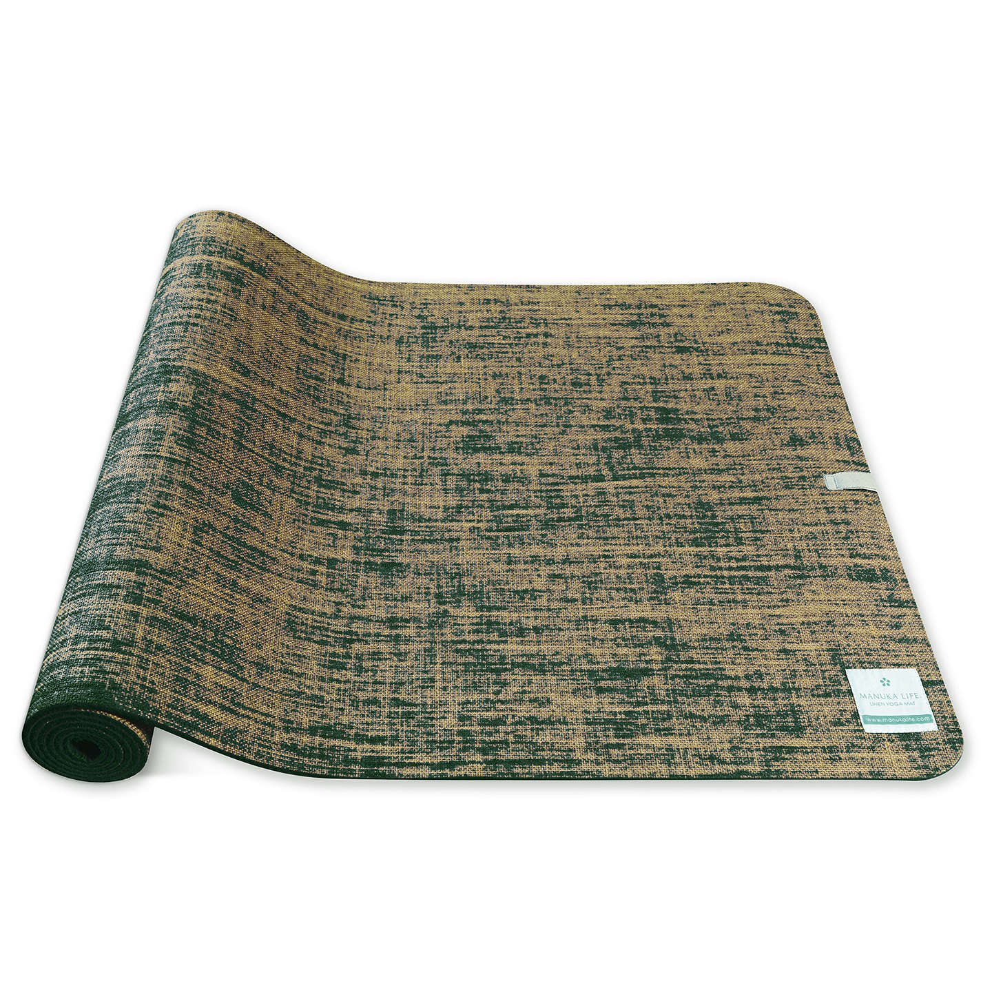 BuyManuka Life Linen 5mm Yoga Mat, Green Online at johnlewis.com