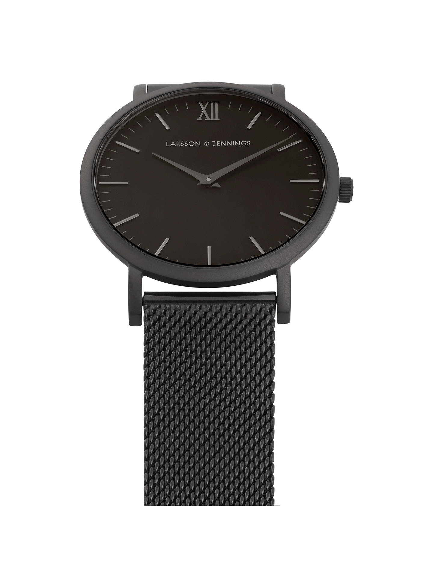 BuyLarsson & Jennings LJ-W-CMBCK-O-BB Unisex Lugano Bracelet Strap Watch, Black Online at johnlewis.com