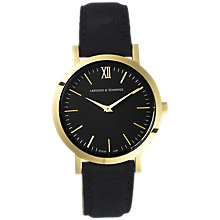 Buy Larsson & Jennings LGN33-LBLK-C-Q-P-GB-O Women's Lugano Leather Strap Watch, Black Online at johnlewis.com