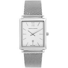 Buy Larsson & Jennings NRS40-CM-C-Q-M-SW-O Unisex Norse Date Bracelet Strap Watch, Silver/White Online at johnlewis.com