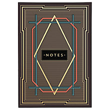 Buy Chase and Wonder Art Deco Stripe Notebook Online at johnlewis.com