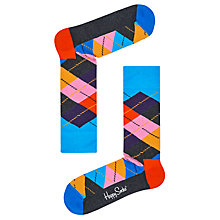 Buy Happy Socks Argyle Socks, One Size, Grey Multi Online at johnlewis.com