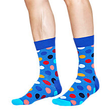 Buy Happy Socks Big Dot Socks, One Size, Blue Melange Online at johnlewis.com