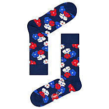 Buy Happy Socks Kimono Socks, One Size, Navy/Multi Online at johnlewis.com