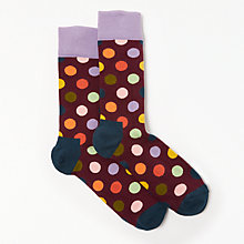 Buy Happy Socks Big Dot Socks, One Size, Burgundy Online at johnlewis.com