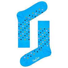 Buy Happy Socks Dot Print Socks, One Size, Blue Online at johnlewis.com