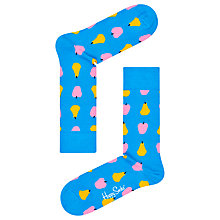 Buy Happy Socks Fruit Print Socks, One Size, Blue Online at johnlewis.com