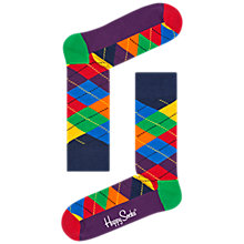 Buy Happy Socks Argyle Socks, One Size, Multi Online at johnlewis.com