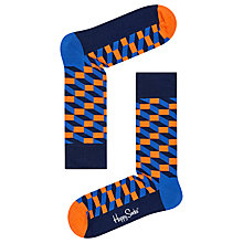Buy Happy Socks Filled Optic Socks, One Size, Multi Online at johnlewis.com