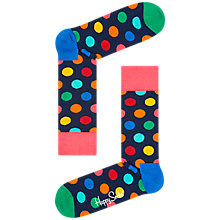 Buy Happy Socks Big Dot Socks, One Size, Navy Online at johnlewis.com