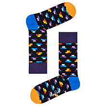Buy Happy Socks Brick Socks, One Size, Navy Online at johnlewis.com
