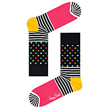 Buy Happy Socks Stripe Dot Socks, One Size, Multi Online at johnlewis.com