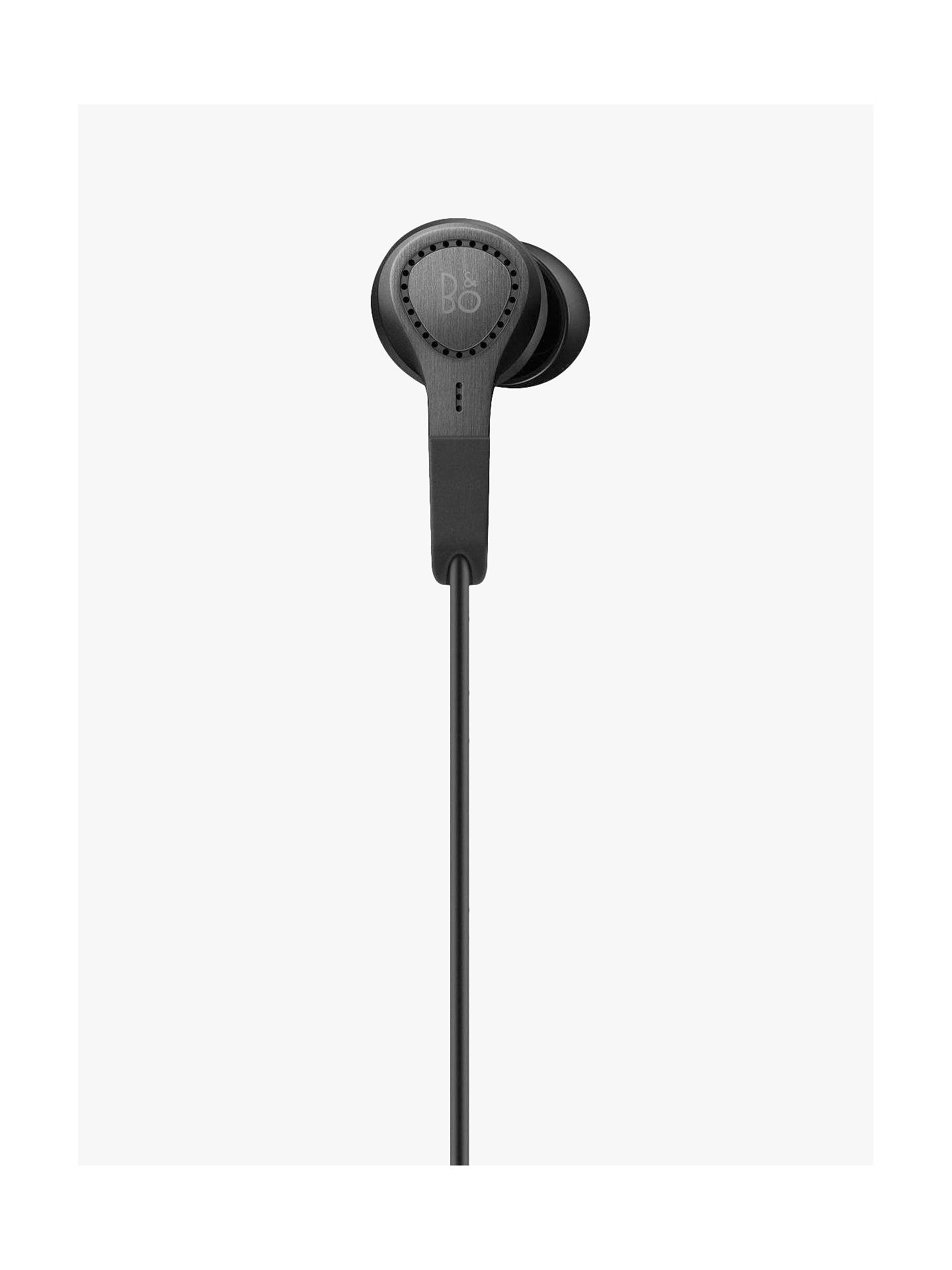 Buy Bang & Olufsen Beoplay E4 Active Noise Cancelling In-Ear Headphones with Inline Mic/Remote for iOS Devices, Black Online at johnlewis.com