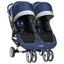 Buy Baby Jogger City Mini Twin Pushchair, Cobalt Online at johnlewis.com