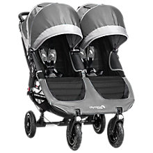 Buy Baby Jogger City Mini GT Double Pushchair, Grey Online at johnlewis.com