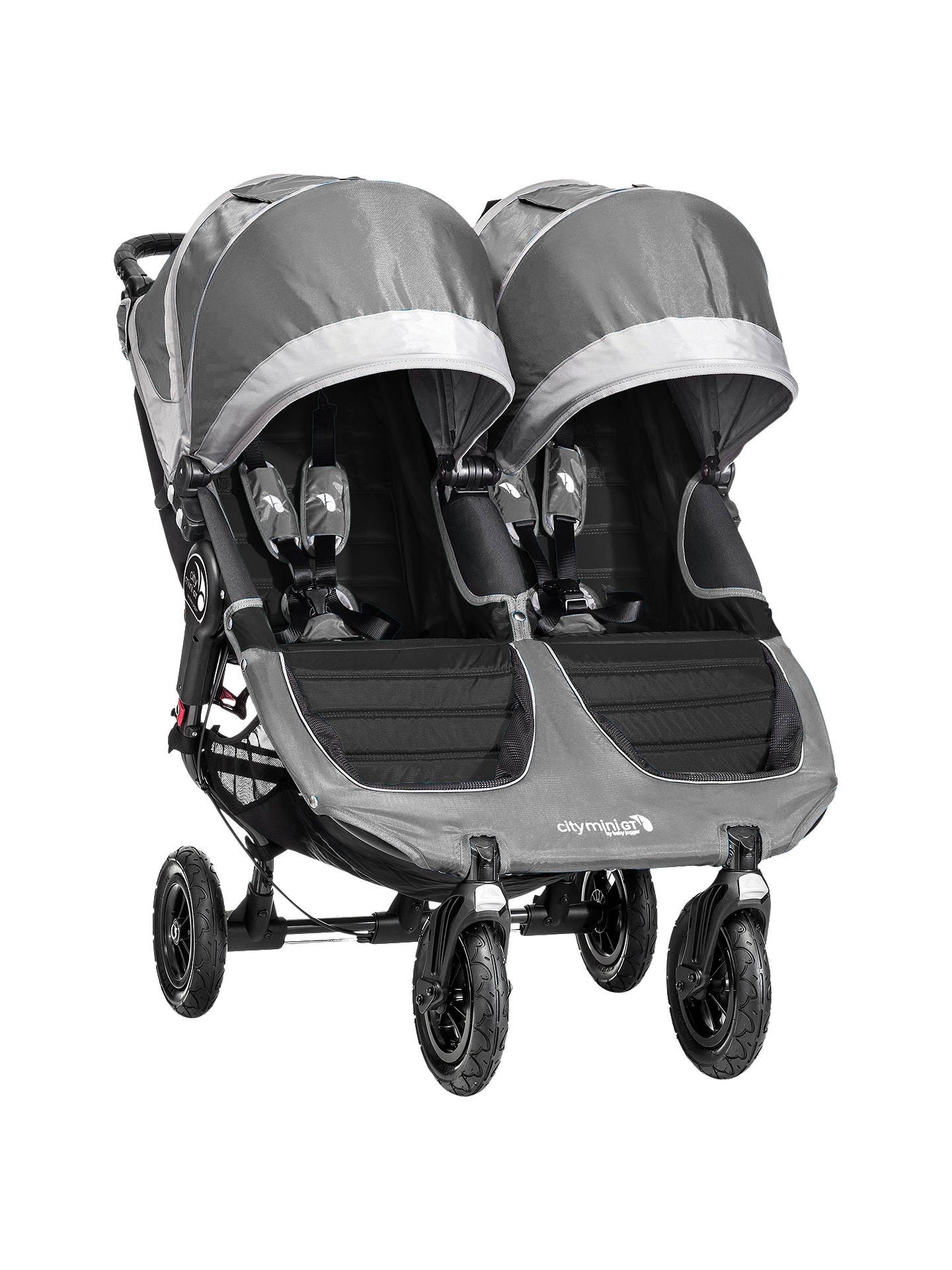 Baby Jogger City Mini Gt Double Pushchair Grey At John