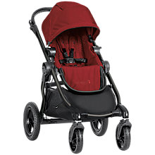 Buy Baby Jogger City Select Pushchair, Claret Online at johnlewis.com