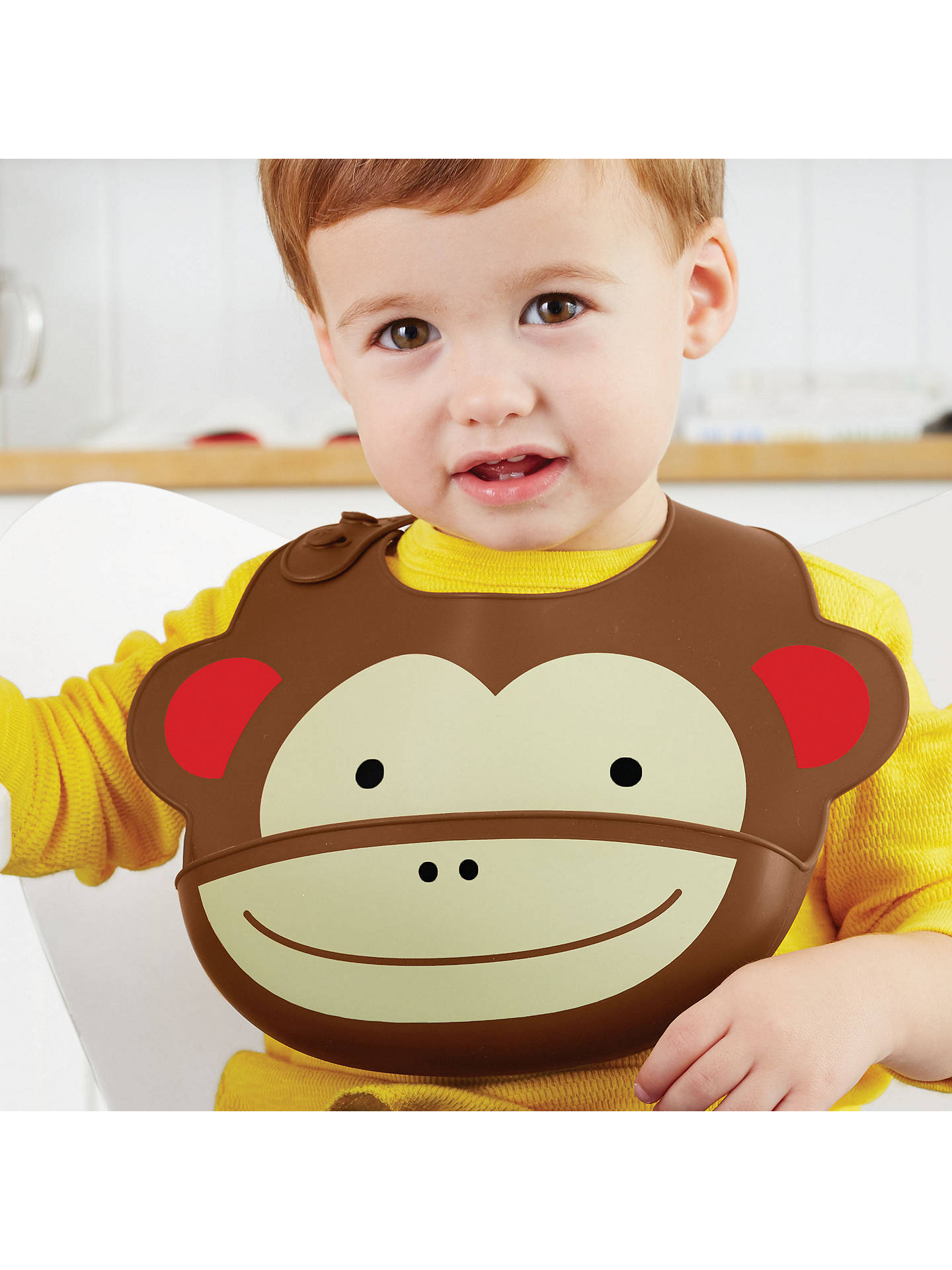 Buy Skip Hop Zoo Silicone Monkey Bib Online at johnlewis.com