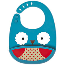 Buy Skip Hop Zoo Silicone Owl Bib Online at johnlewis.com