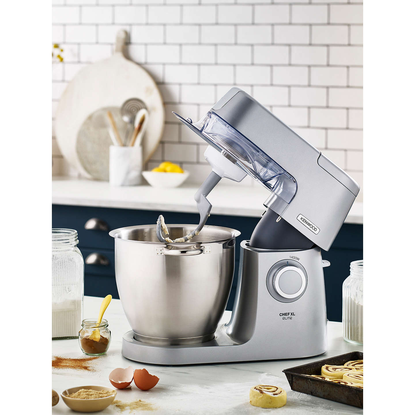 BuyKenwood KVL6100S  Chef Elite XL Stand Mixer, Silver Online at johnlewis.com