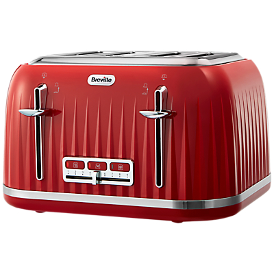 Breville Impressions 4-Slice Toaster, Red