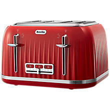 Buy Breville Impressions 4-Slice Toaster, Red Online at johnlewis.com