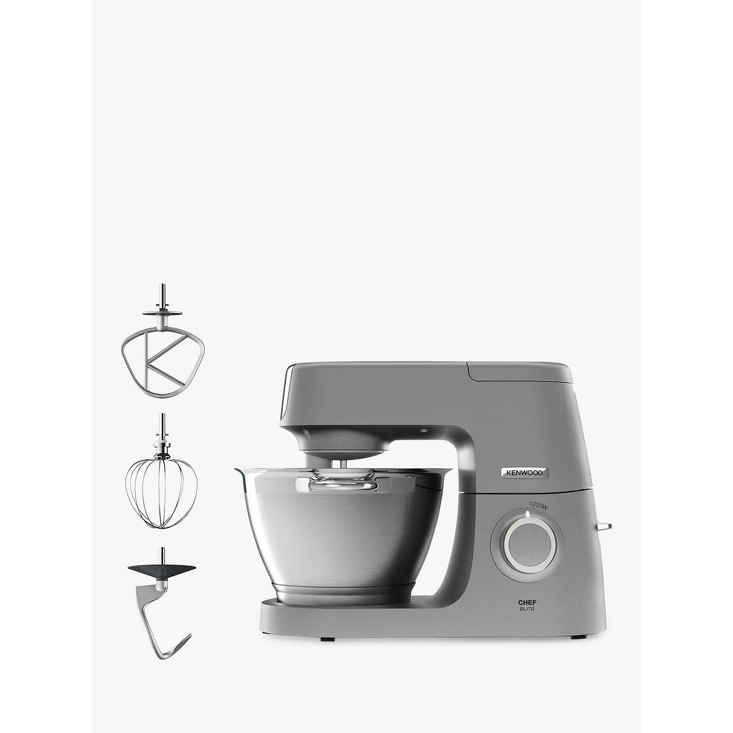 Kenwood kvc5100s chef elite stand mixer silver at john lewis buykenwood kvc5100s chef elite stand mixer silver online at johnlewis forumfinder Gallery
