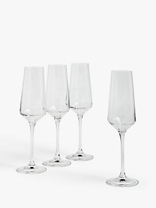 House by John Lewis Drink Champagne Flutes, 210ml, Set of 4