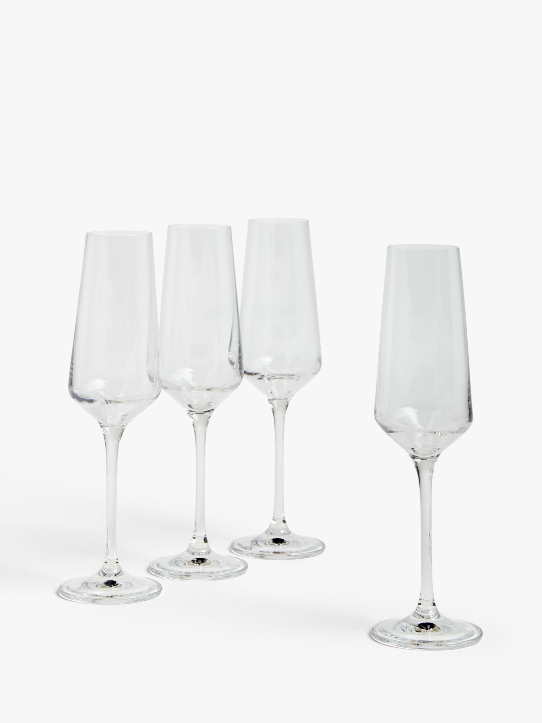 House by John Lewis House by John Lewis Drink Champagne Flutes, 210ml, Set of 4