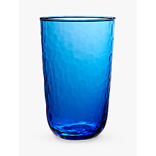Buy John Lewis Fusion Hammered Highball Glass, Blue, 520ml Online at johnlewis.com