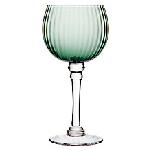 Buy John Lewis Optic Balloon Wine/Gin Glass, Clear/Green, 320ml Online at johnlewis.com