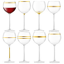 Buy LSA International Deco Balloon Wine / Gin Glass, Set of 8, 525ml, Clear/Gold Online at johnlewis.com