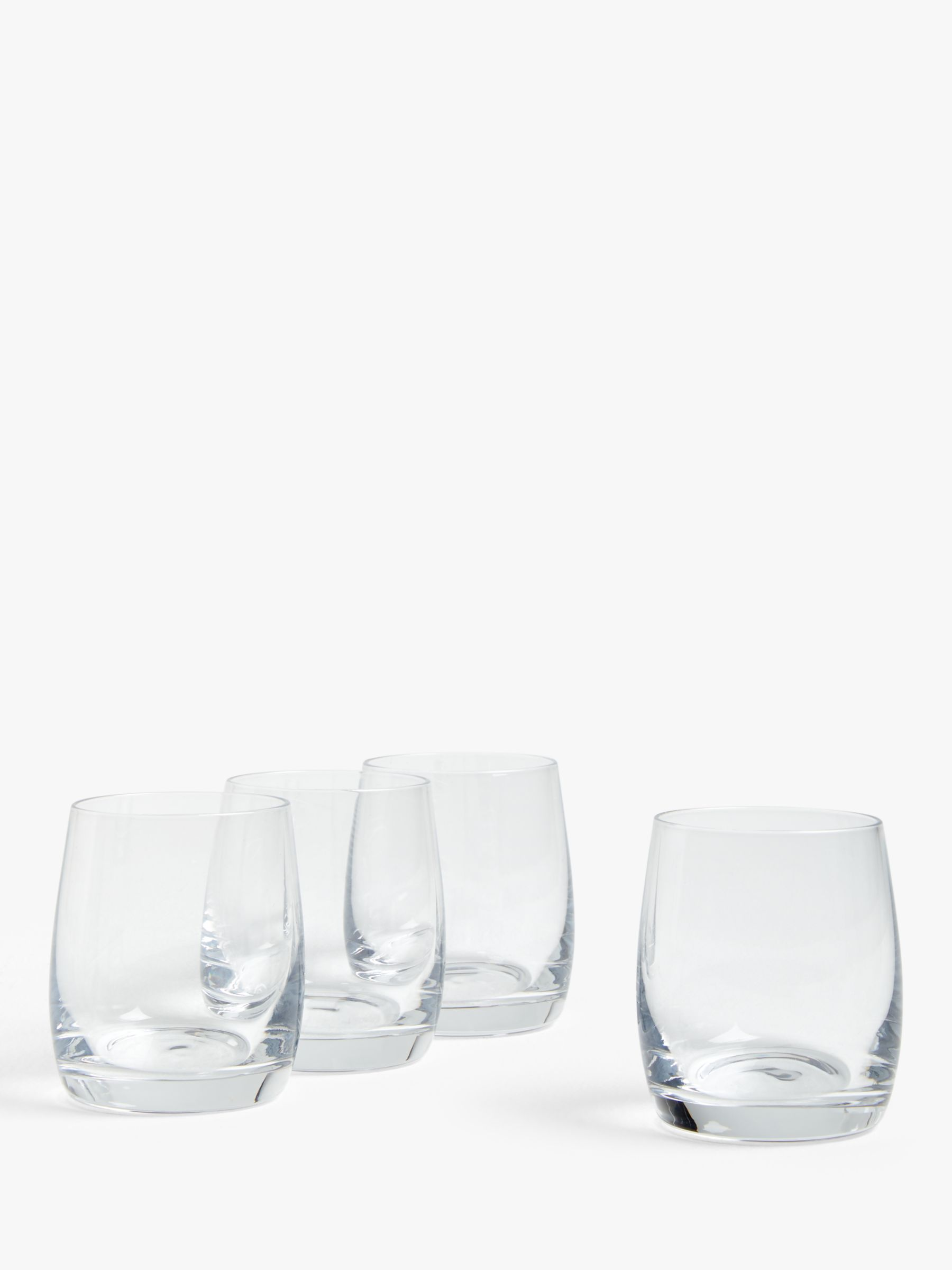 House by John Lewis House by John Lewis Drink Tumblers, Clear, 250ml, Set of 4