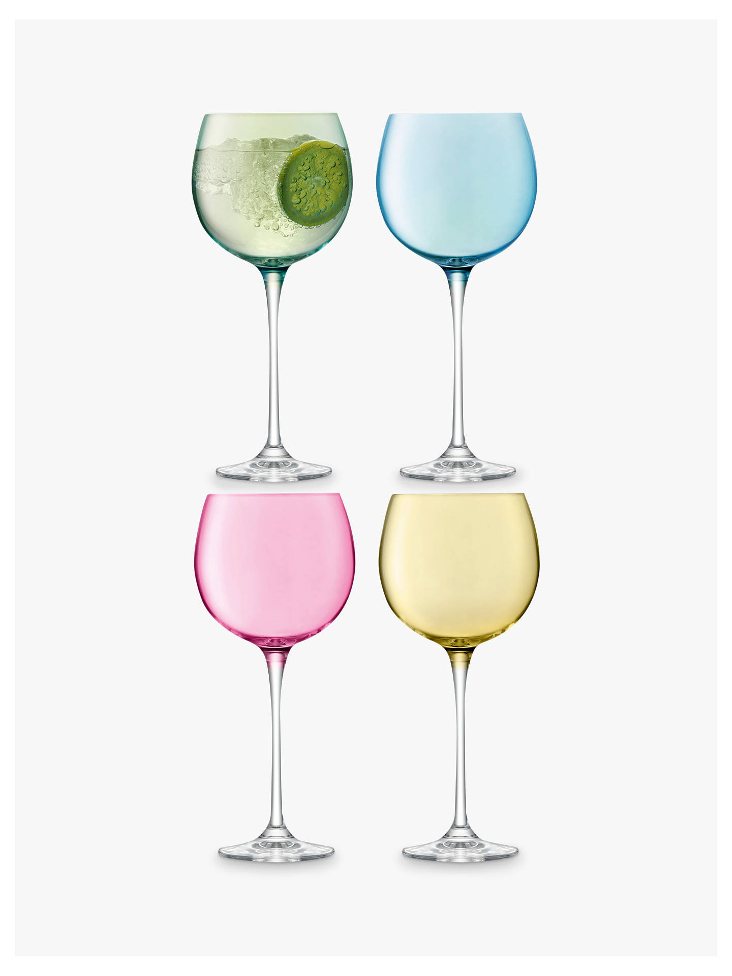 Buy LSA International Polka Large Wine / Gin Glasses, Assorted, 525ml, Set of 4 Online at johnlewis.com