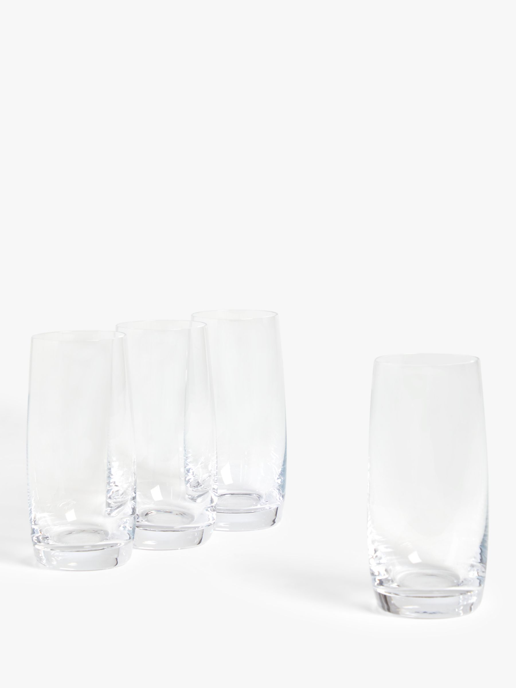 House by John Lewis House by John Lewis Drink Highball Glasses, Clear, 350ml, Set of 4