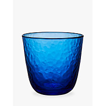 Buy John Lewis Fusion Hammered Tumbler Glass, Blue, 280ml Online at johnlewis.com