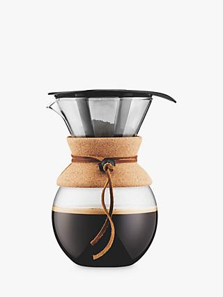 Bodum Pour Over Coffee Maker with Filter and Cork Band, 1L