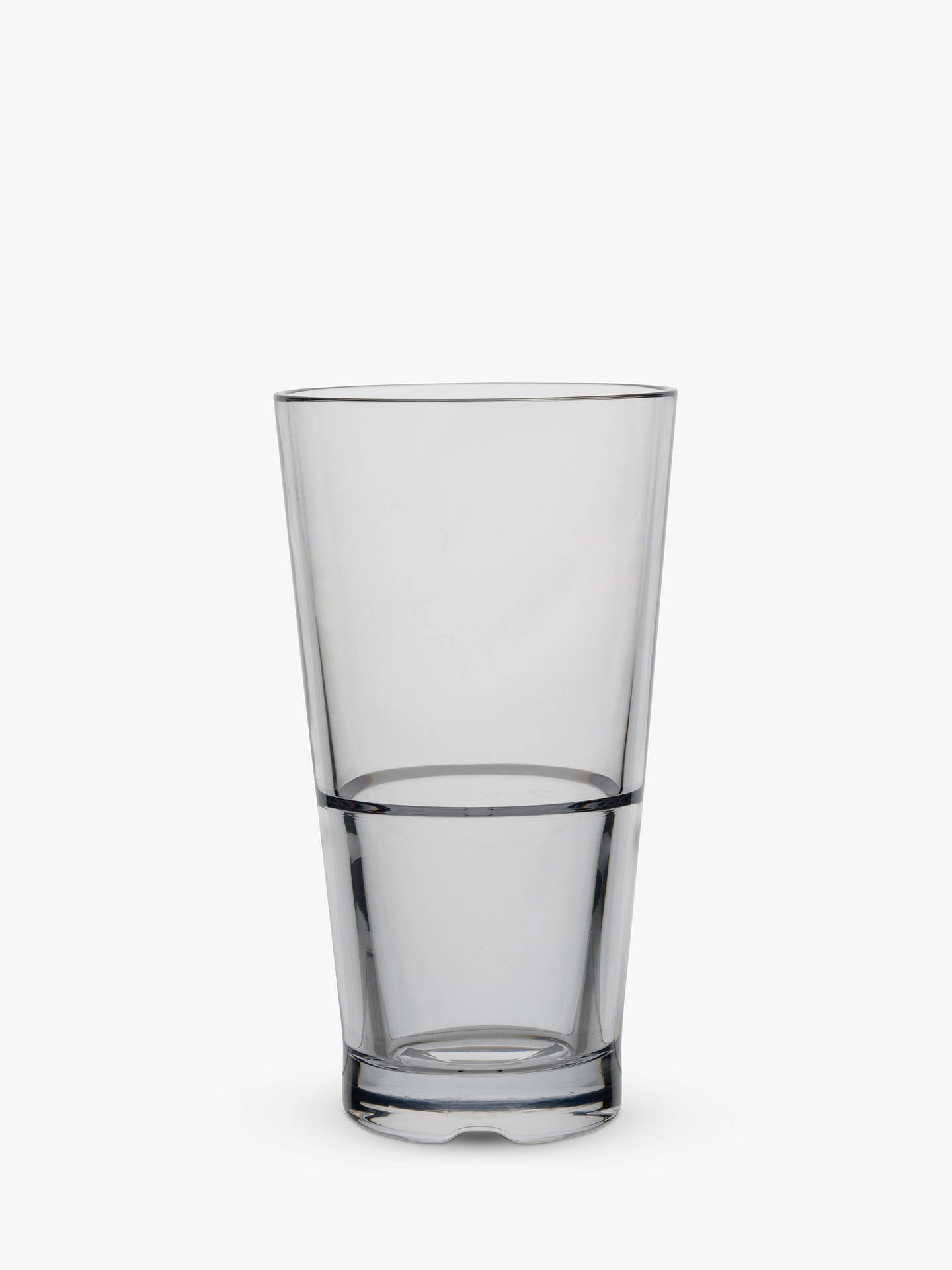 BuyStrahl Capella Stackable Plastic Picnic Highball Glass, Clear, 400ml Online at johnlewis.com