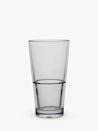 Buy Strahl Capella Stackable Plastic Picnic Highball Glass, Clear, 400ml Online at johnlewis.com