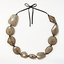 Buy John Lewis Beaded Cord Necklace, Khaki/Black Online at johnlewis.com