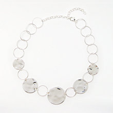 Buy John Lewis Circle Disc Short Statement Necklace, Silver Online at johnlewis.com