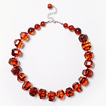 Buy John Lewis Beaded Necklace, Amber Online at johnlewis.com